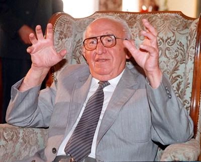 Тодор Живков в последните си години.  СНИМКА: РУМИ ТОНЕВА