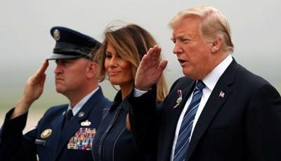 """Президентът на САЩ Доналд Тръмп отдаде днес почит към паметта на 40-те пътници и екипаж от полет 93 на """"Юнайтед еърлайнс"""" СНИМКИ: РОЙТЕРС"""