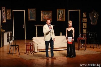 Кметът Георги Икономов откри театралния фестивал. СНИМКИ: ОБЩИНА БАНСКО