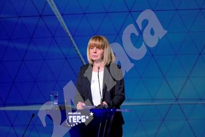Кметът на София Йорданка Фандъкова коментира протеста на конгреса на ГЕРБ. СНИМКА: ПИЕР ПЕТРОВ СНИМКА: 24 часа