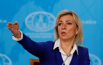 Говорителката на руското Министерство на външните работи Мария Захарова СНИМКА: РОЙТЕРС