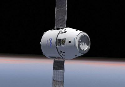 """Космическият товарен кораб """"Дракон"""" СНИМКА: уикипедия/НАСА"""