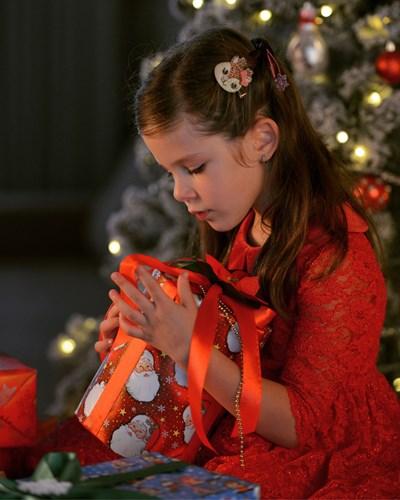 6-годишната Леа с нетърпение очаква Дядо Коледа.  СНИМКА: АНА ВЕЛИКОВА