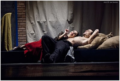 """Сцена от премиерната постановка """"Албена"""" в Театъра на Армията СНИМКА: Архив На Трупата"""