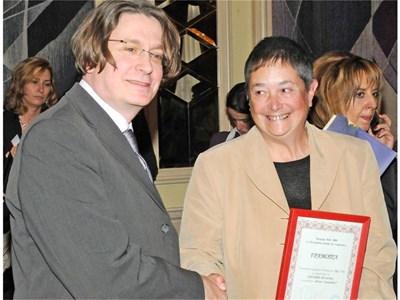 """Меценатът Едуард Вик на връчването на приза """"Роман на годината"""" за 2008 г. СНИМКА: БУЛФОТО"""