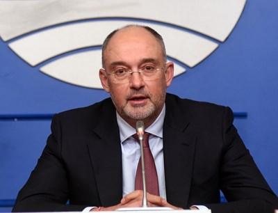 Членът на Изпълнителния комитет на БФС Петър Величков. СНИМКА: ВЕЛИСЛАВ НИКОЛОВ