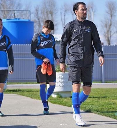 Ивелин Попов излиза за първа тренировка след пълното си възстановяване. Снимка: инстаграм на футболиста