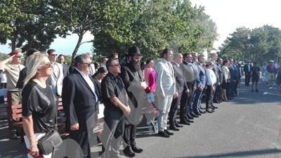 Церемонията протича при засилени мерки за сигурност. СНИМКИ: Авторът
