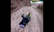 Спускане с колело в каньона Фаруел, Канада