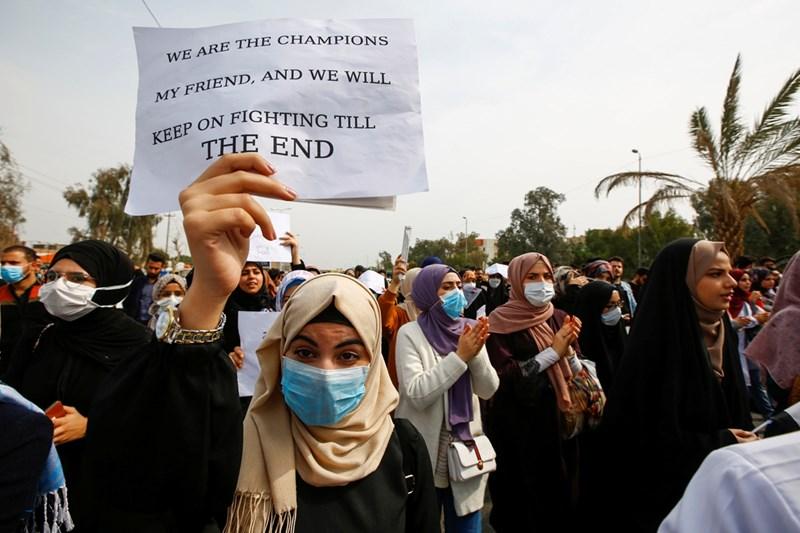 Демонстрация с маски в Ирак