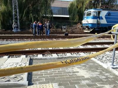 Гарата в Бургас след инцидента СНИМКА: Елена Фотева