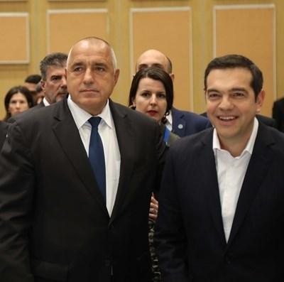 Бойко Борисов и Алексис Ципрас СНИМКА: Ройтерс