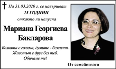 Мариана Бакларова
