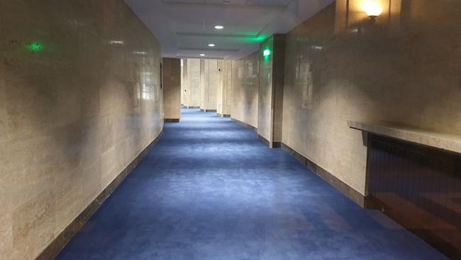 Само кулоарът пред кабинета на шефката на НС Цвета Караянчева е ремонтиран.