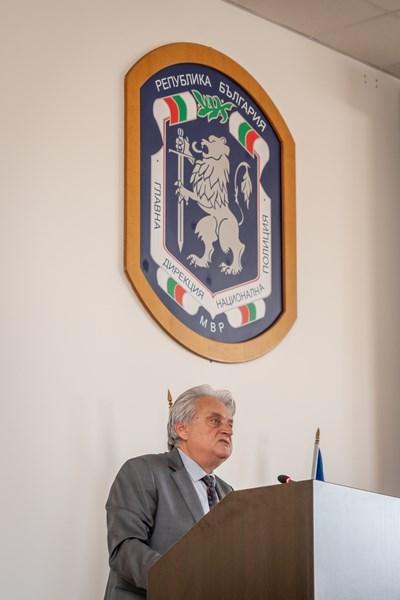 Рашков представи пред участниците в националното съвещание ръководния състав на министерството. Снимки МВР