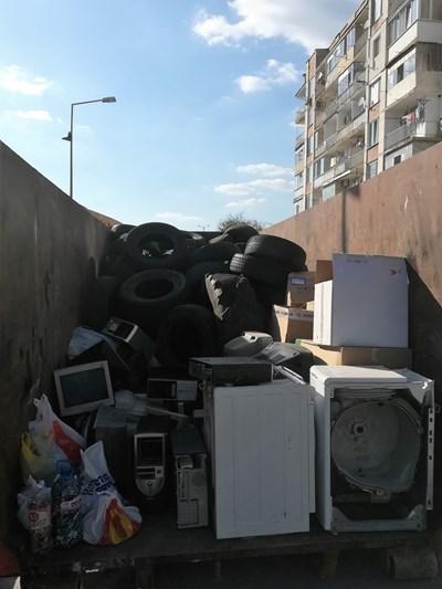 Част от непотребната техника събрана във Велико Търново СНИМКА: Община Велико Търново