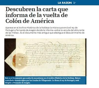 Факсимиле: larazon.es