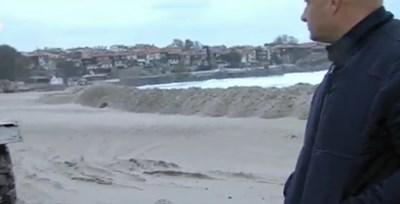 Пясъчната дига в Созопол КАДЪР: БНТ
