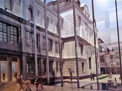 Така би изглеждал вътрешния двор на българския Лувър според арх. Янко Апостолов. СНИМКИ: АНДРЕЙ МИХАЙЛОВ
