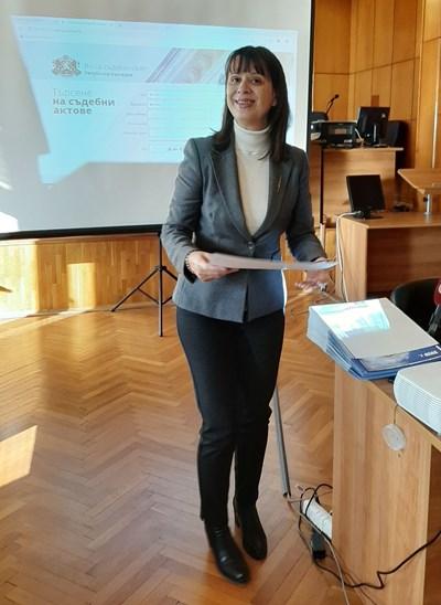 Съдия Росица Темелкова. Снимка:Елена Фотева