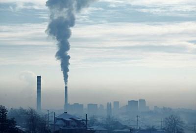 Замърсен въздух над София СНИМКА: Йордан Симeонов