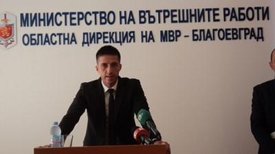 Новият директор на ОД на МВР-Благоевград Дойчин Дойчинов. СНИМКА: Антоанета Маскръчка