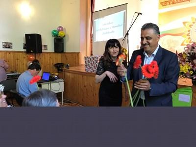 """Кметът на """"Марица"""" Димитър Иванов присъства на празненството послучай 140 г. юбилей на училището във Войводиново"""