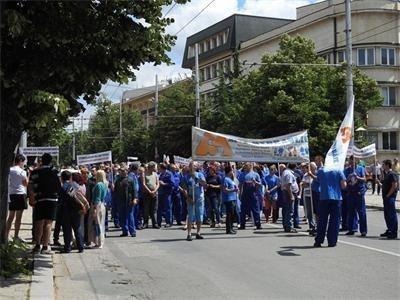 Национален протест срещу повишението на тока Снимка: Архив