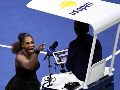 Поведението на Серена Уилямс по време на финала на US Open и атаките ? към съдията Карлос Рамос станаха повод за карикатури и коментари. СНИМКА: РОЙТЕРС