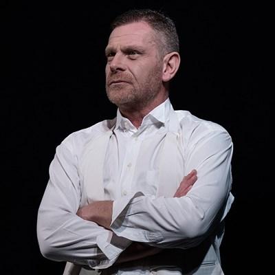 Юлиан Вергов играе Иван Вазов СНИМКА: Архив На Народния Театър