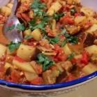 Лесна яхния с патладжан и картофи