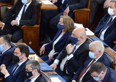Красен Кралев на първото заседание в парламента.