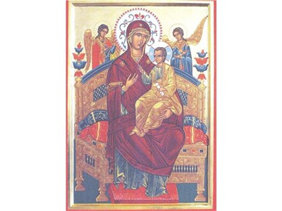 Иконата на Богородица Всецарица. СНИМКИ: АТАНАС КЪНЕВ