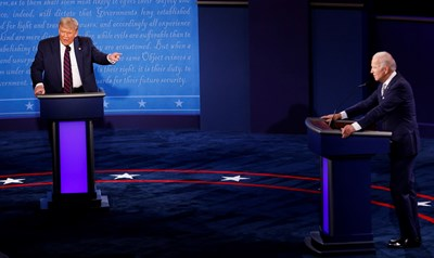 Тръмп и Байдън си размениха куп обиди.