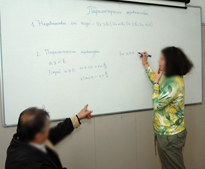 Изследването доказва, че учителите са под стрес, когато учениците отказват да учат. Ученолюбивите деца ги мотивират в професията. СНИМКА: Йордан Симeонов