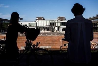 Журналисти отразяват местопрестъплението в Дания. Снимка: Ройтерс