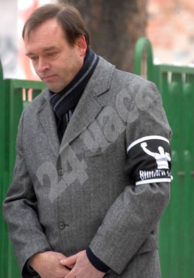 Христо Монов на едно от шествията в памет на Андрей Монов