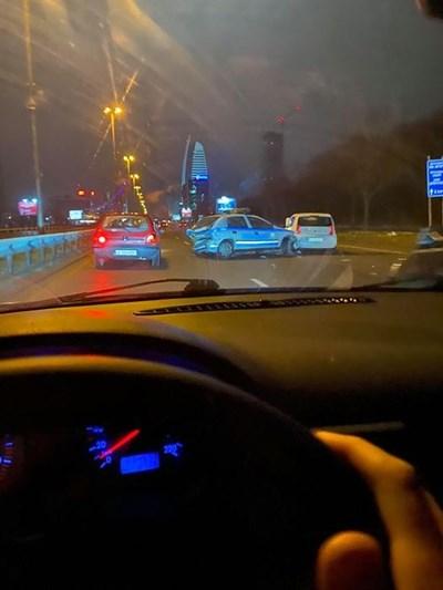 Верижна катастрофа в София Снмика: Фейсбук/ Владимир Куцинов