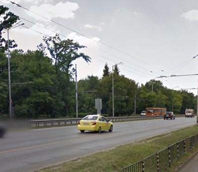 "Бул. ""Цариградско шосе"" до Полиграфическия комбинат СНИМКА: Google Street View"