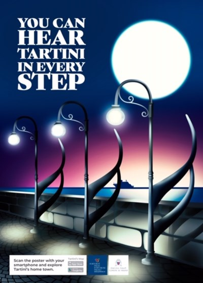 Първият от серията постери за Тартини на българския екип