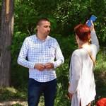 Димитър Колев инспектира прокарването на новата алея.