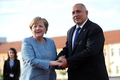 Бойко Борисов и Ангела Меркел Снимки: Ройтерс