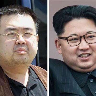 Ким Чен-нам (вляво), брат на севернокорейския лидер Ким Чен-ун (вдясно) бе отровен на летището в Куала Лумпур от 2 жени.
