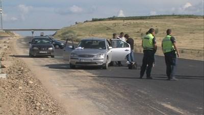 """Мястото от магистрала """"Струма"""", където станал инцидентът."""