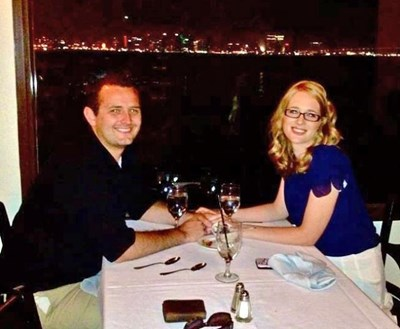 Ева и Стоян на брега на Босфора