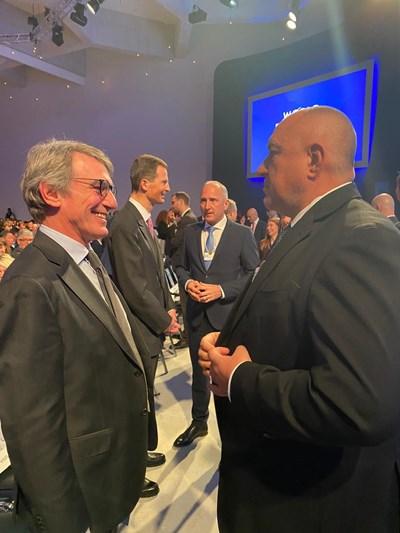 Борисов се срещна с председателя на Европейския парламент Давид Сасоли СНИМКА: Правителствена информационна служба