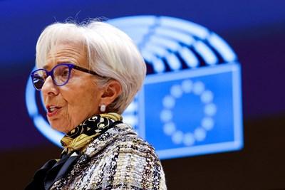 Управителят на ЕЦБ Кристин Лагард СНИМКА: Ройтерс