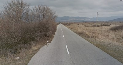 Пътят Нова Загора - Гурково СНИМКА: Google Street View