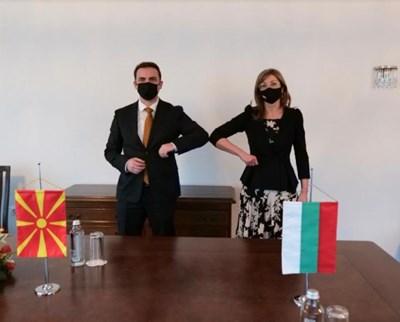 Вицепремиерът и министър на външните работи Екатерина Захариева прие външния министър на Република Северна Македония Буяр Османи СНИМКА: МВнР