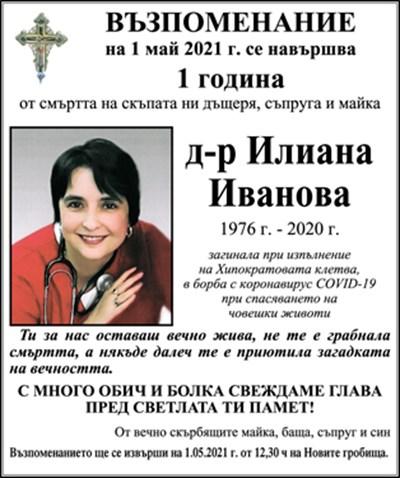 д-р Илиана Иванова